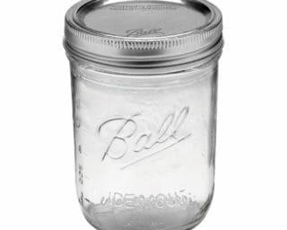 Ball wide mouth pint Mason jar