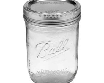 Ball wide mouth pint Mason jar