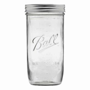 Ball wide mouth pint & half Mason jar