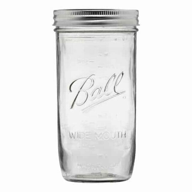 Ball wide mouth pint & half Mason jar