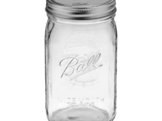 Ball wide mouth quart Mason jar
