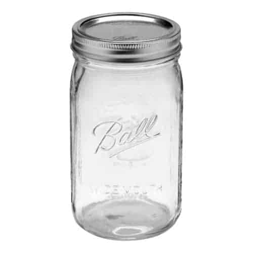Ball wide mouth quart Mason jar