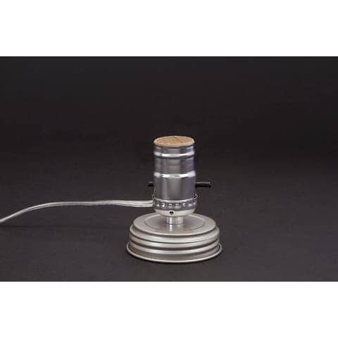 Mason jar silver lamp adapter