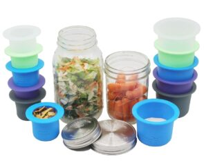 mason-jar-lifestyle-divider-dressing-cup-silicone-stainless-steel-lid-salads-snacks-regular-wide-mouth