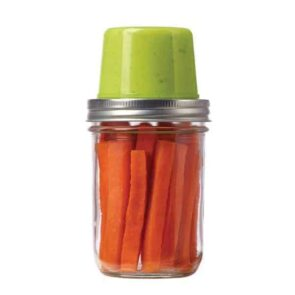 Jarware snack pack with carrots and guacamole