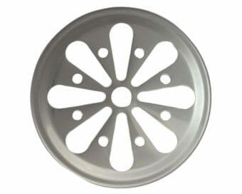 Stainless steel daisy cut lid insert for regular mouth Mason jars