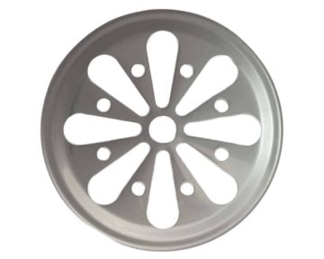 Stainless steel daisy cut lid insert for regular mouth Mason jars