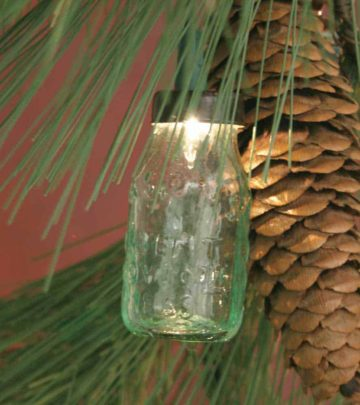 Mason jar miniature ornament