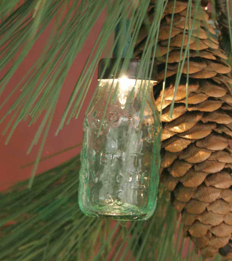 Mason jar ornaments - Mason Jar Miniature Ornament