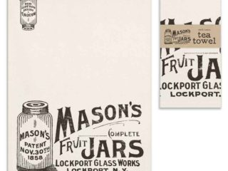 Mason jar tea towel