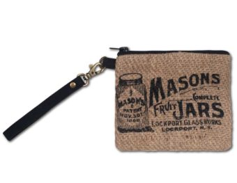 Mason Jar Wristlet purse