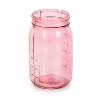 Pink decorative wide mouth quart Mason jar