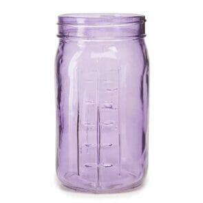 Purple decorative Mason jar