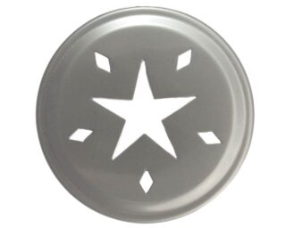 Stainless steel star cut lid insert for regular mouth Mason jars