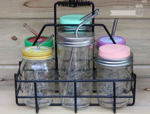 black-six-jar-carrying-caddy-ball-kerr-mason-jars-lids-straws-drinking-pint-and-half