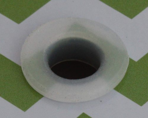 Silicone straw hole grommet gasket for Mason jar lids. Reduces 10mm hole to 8mm.