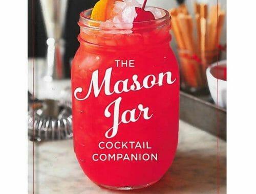 Mason Jar Cocktail Companion gift set with cocktail shaker lid