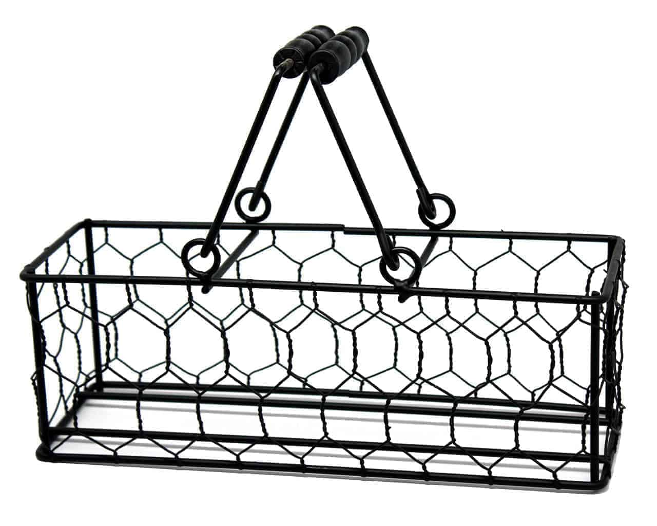 Chicken Wire Caddy for 3 Pint Mason Jars