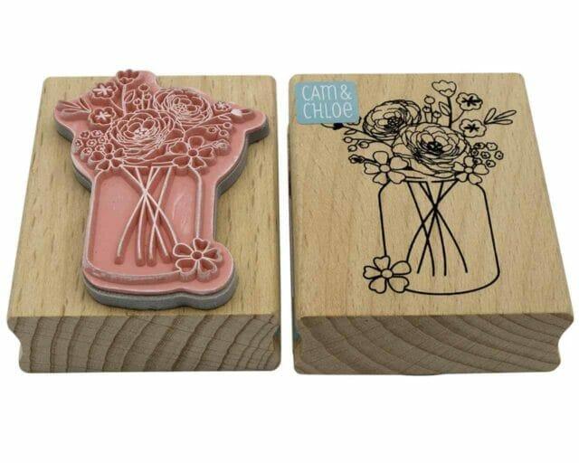 hampton-arts-mason-jar-flower-vase-stamp-front-back-rubber-wood