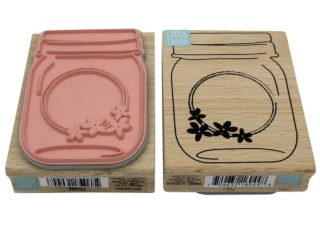 hampton-arts-mason-jar-with-flowers-round-label-stamp-front-back-rubber-wood