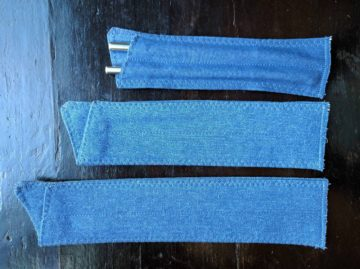 Straw sleeves to carry reusable glass or stainless steel straws