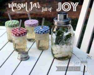 Mason jar full of joy - Mason jar cocktail shaker blog post picture