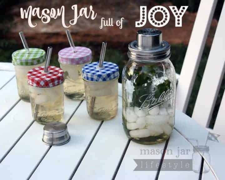 Mason jar full of joy - Mason jar cocktail shaker blog post picture