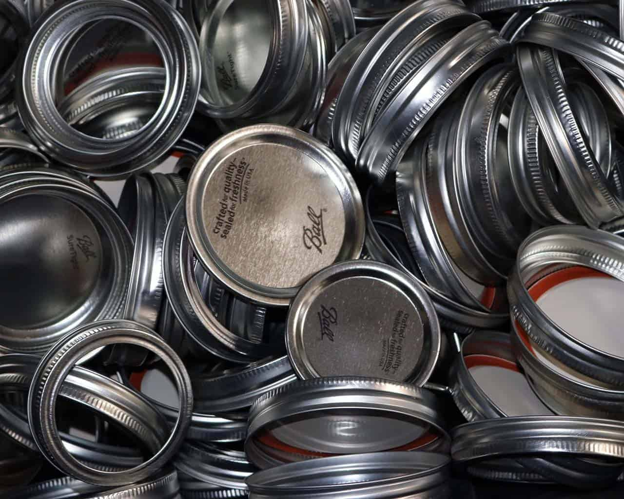 Mason Jar Lifestyle Lids And Bands Pulled From New Jars Bulk Bin
