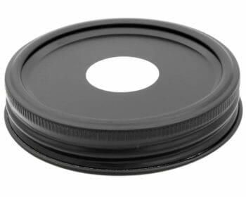 mason-jar-lifestyle-matte-black-aluminum-chalkboard-soap-lid-adapter-wide-mouth-mason-jars