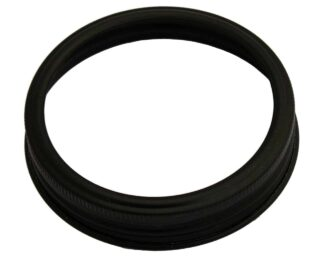 Matte black aluminum rust proof band / ring for wide mouth Mason jars