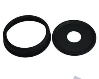 Matte black aluminum rust proof soap pump lid adapter for wide mouth Mason jars