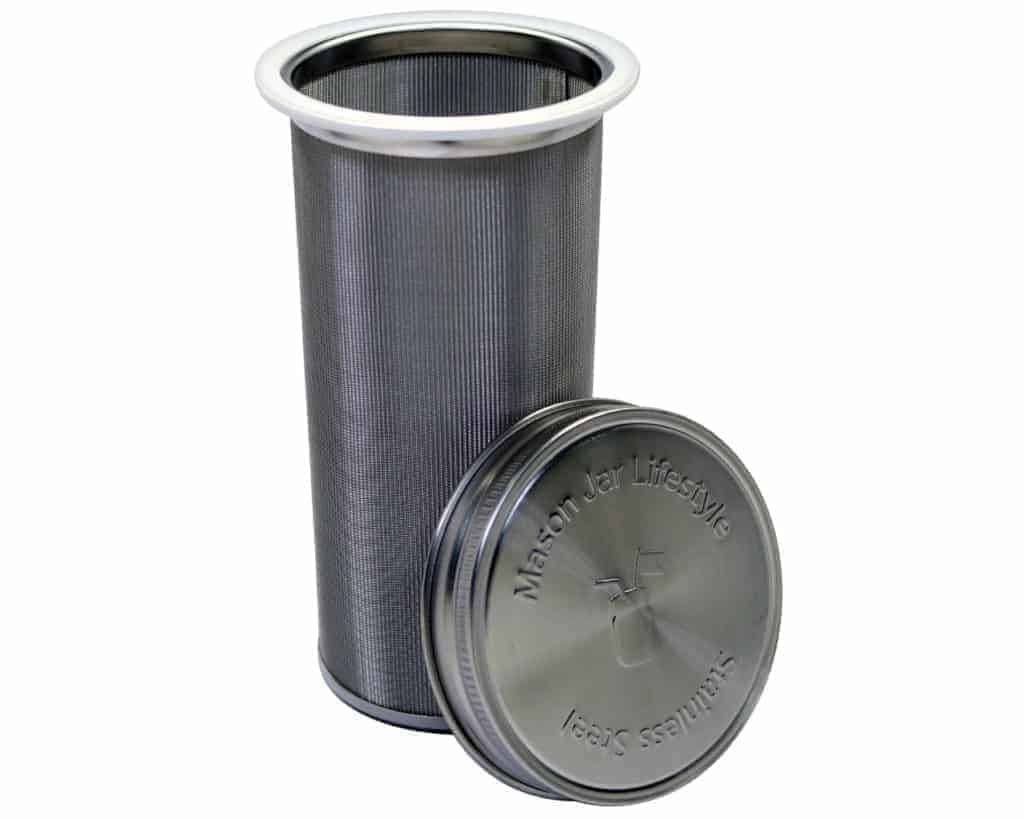 Stainless Steel Filter for Use With 2 Quart Wide Mouth Mason Jars