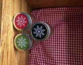 Snowflake lids for regular mouth Mason jars