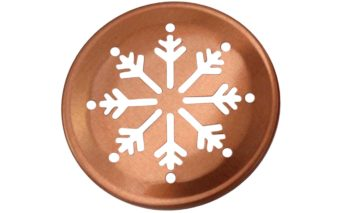 Copper snowflake lid insert for regular mouth Mason jars