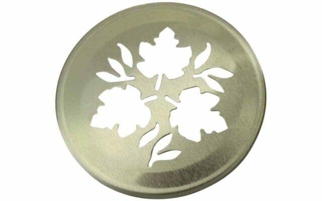 Gold leaf lid insert for regular mouth Mason jars
