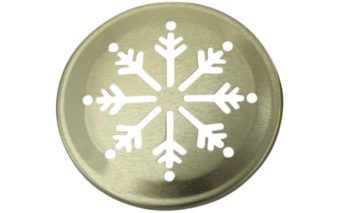 Gold snowflake lid insert for regular mouth Mason jars