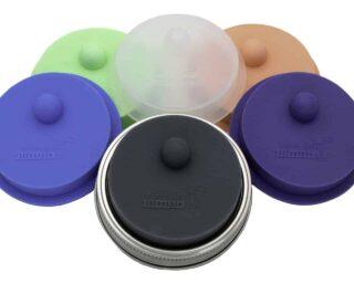 mason-jar-lifestyle-fermentation-valve-lids-waterless-airlock-wide-mouth-mason-jars-stainless-steel-band-6-colors