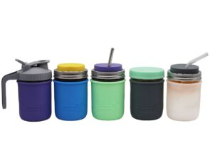mason-jar-lifestyle-silicone-sleeve-jacket-wide-mouth-16oz-lids-straws-ball-kerr