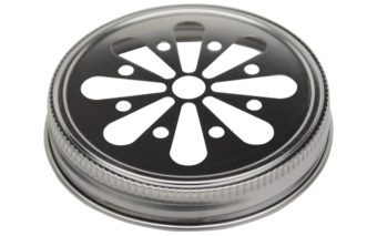 Stainless steel daisy flower cut lid for regular mouth Mason jars
