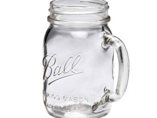Ball pint 16oz regular mouth drinking Mason jar with handle