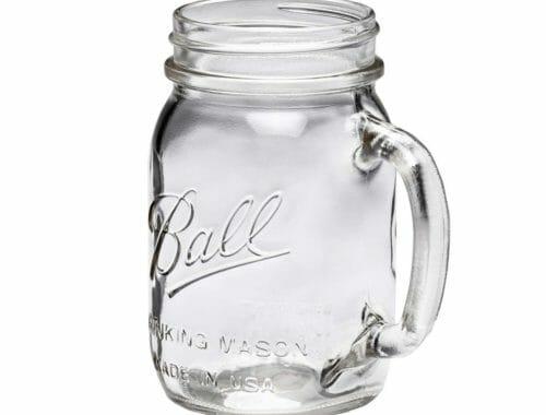 Ball pint 16oz regular mouth drinking Mason jar with handle