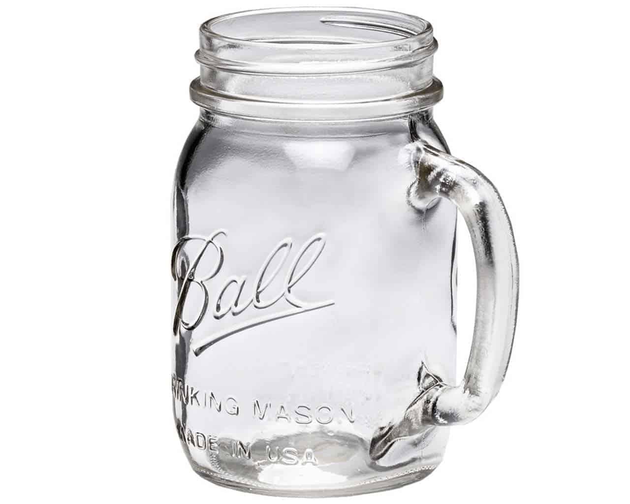 Patriotic Stars Mason Jar 16oz. Glass