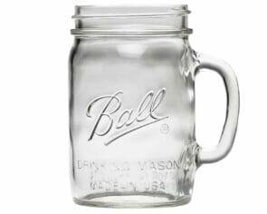 Ball pint & half 24oz wide mouth drinking Mason jar with handle