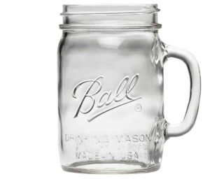 Ball pint & half 24oz wide mouth drinking Mason jar with handle
