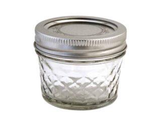 Ball quilted 4oz regular mouth Mason jar