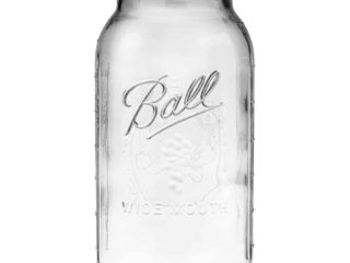 Ball wide mouth half gallon 64oz Mason jar