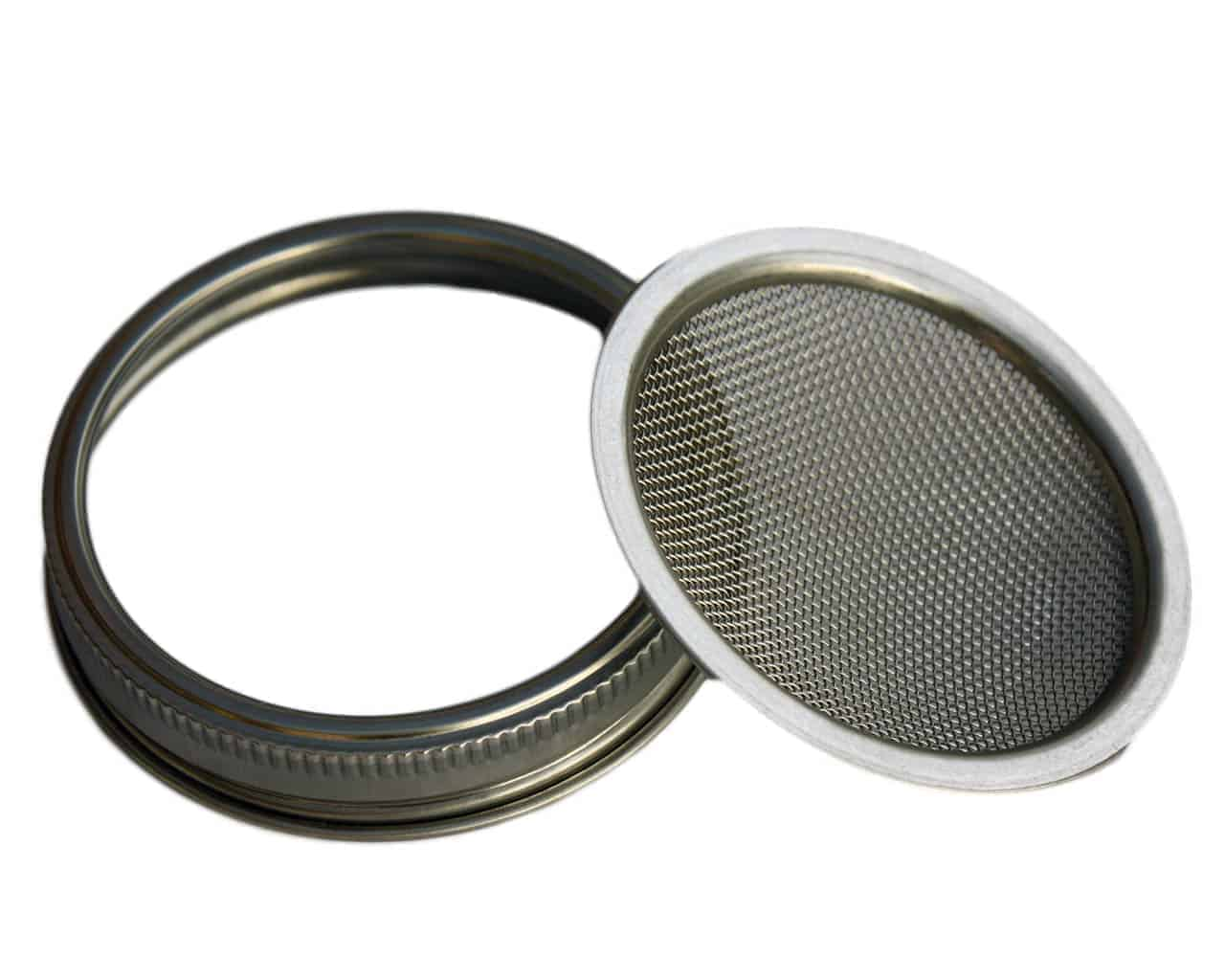 Stainless Steel Mesh Sprouting Lid And Band For Wide Mouth