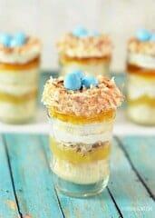 Bird Nest Mason Jar Cup Cakes