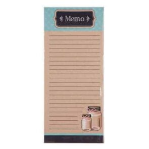 Memo notepad with Mason jars