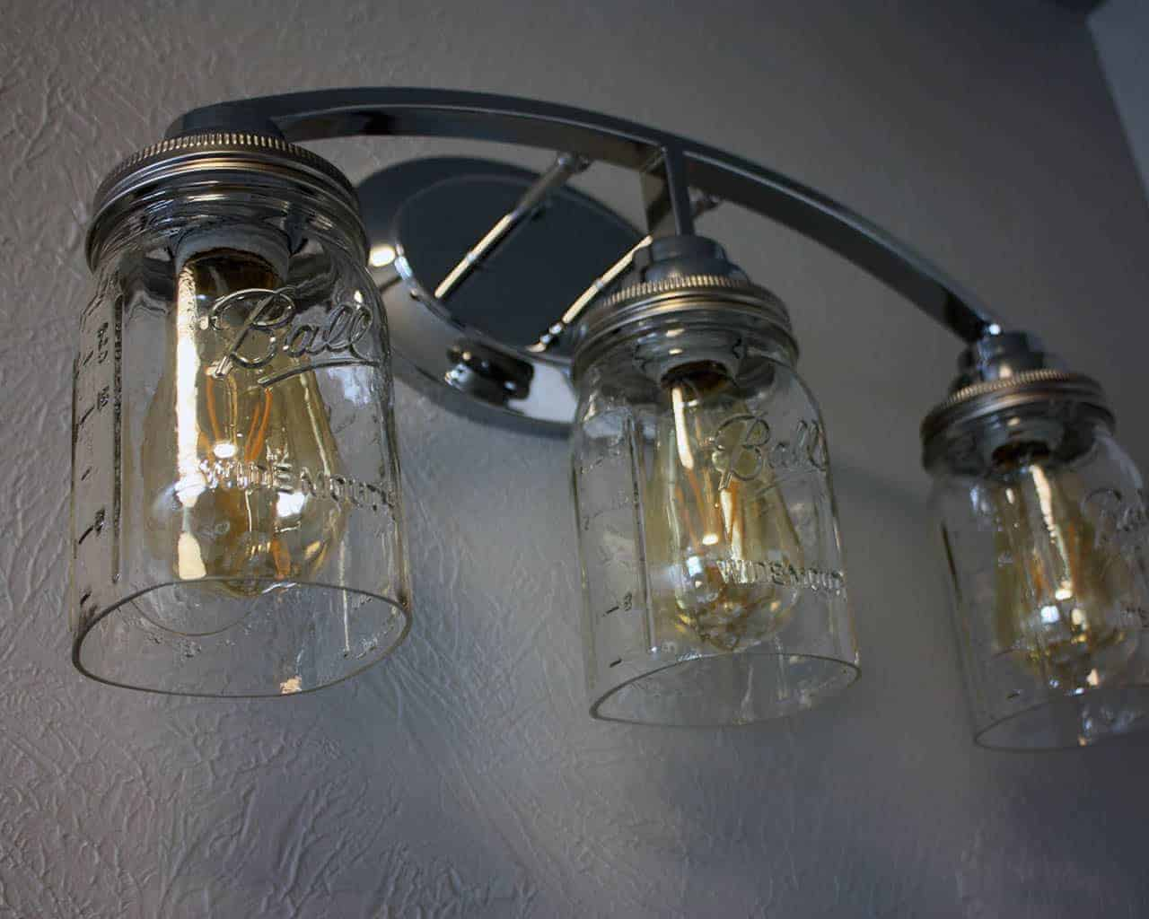 Hand cut open bottom mason jar for lighting shade or crafts light fixture with three quart cut bottom ball mason jars wide mouth lighting lids arubaitofo Gallery